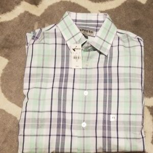 NWT Express XS fitted button down